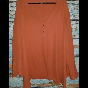 Avenue Tops - Avenue burnt orange sz 18 / 22 blouse top shirt